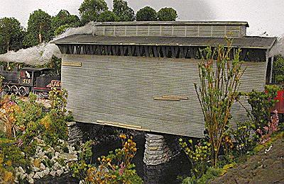 Northeastern Scale Models 30014 N Railroad Covered Bridge Kit