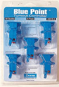 New Rail Models 400185 HO Blue Point Turnout Controller (Pack of 5)