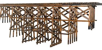 JV Models 2014 HO Wood Timber Trestle