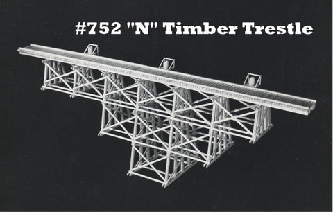 Campbell Scale Models 752 N Tall Straight Timber Trestle