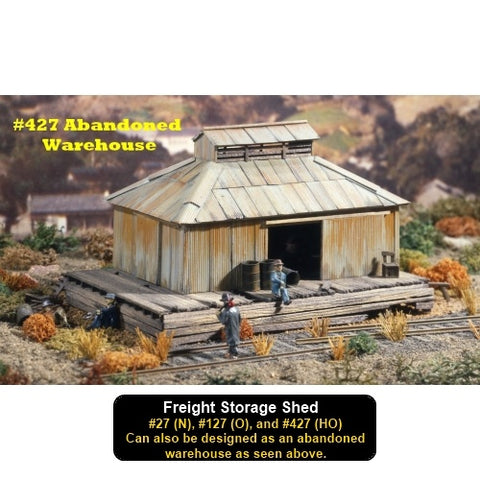 Campbell Scale Models 27 N Freight Storage Shed