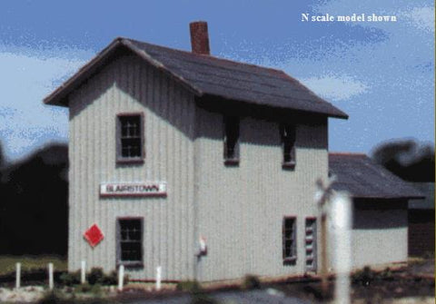 Blair Line 078 N 2-Story Train Depot Laser-Cut Building Kit