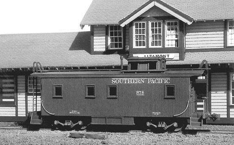American Model Builders 853 HO Southern Pacific Class C-30-1 Wood Caboose Kit Laser-Cut Wood