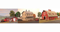 American Model Builders 178 Laser Art House, Barn, Shack HO Scale Kit (Set of 3)