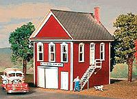 American Model Builders 147 Laser Art Hillview Fire Volunteer HO Scale Kit