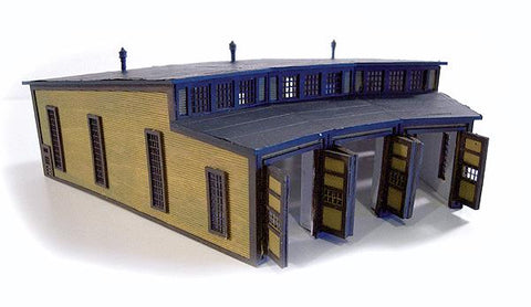 The N Scale Architect 30044 Z Nansen Street Models Laser Cut Wood Kit 3-Stall Roundhouse (3)