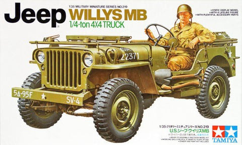 Tamiya 35219 1:35 Scale Jeep Willys MB 1/4 Ton 4x4 Truck Kit