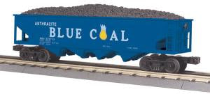 MTH 30-79380  Anthracite Blue Coal Hopper Car w/Operating Coal Load