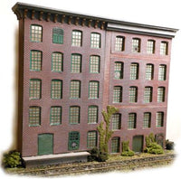 The N Scale Architect 50066 HO Wall Panel System Starter Set Kit - Modern Brick