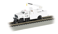 Bachmann 16902 HO Norfolk Southern MOW Hi-Rail Equipment Truck w/Crane (White)