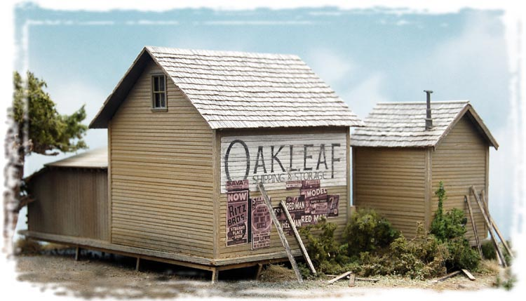 Bar Mills 182 HO Oakleaf Shipping & Storage LaserCut Wood 3-Building Complex Kit