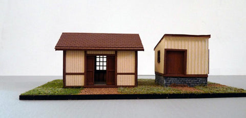 Branchline Trains 655 HO Pennsylvania Railroad Small Freight House/Baggage Building #1 Set Kit