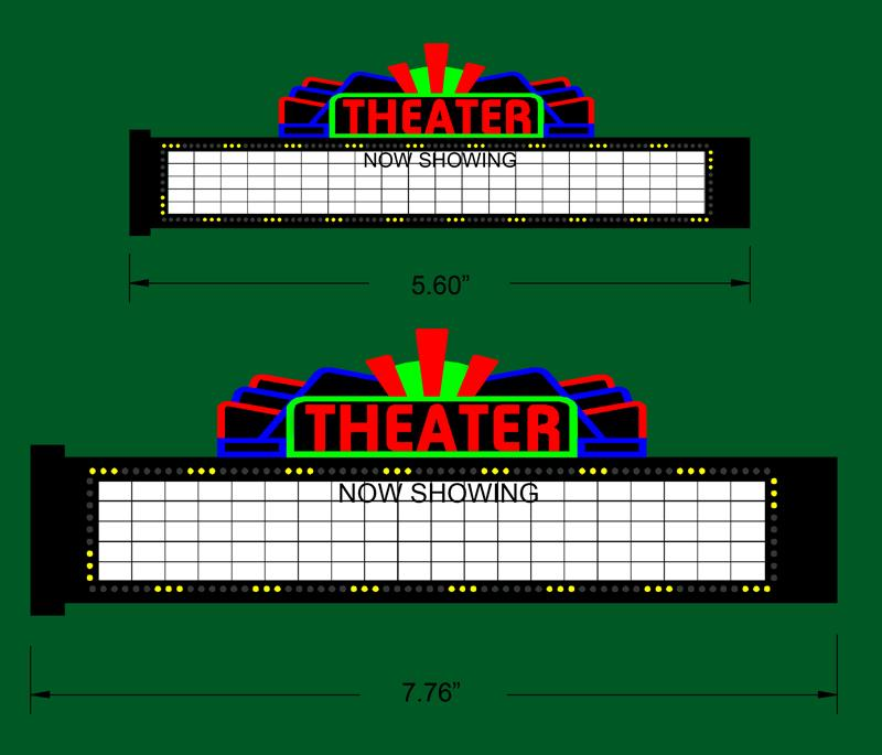 Miller Engineering 1181 S/O Large Theatre Sign