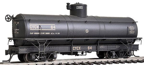 Blackstone Models 340611W HOn3 CYCX Narrow-Frame Tank CarX #64 - Weathered