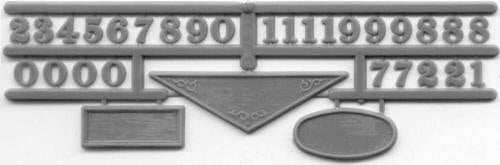 Grandt Line 5219 HO Building Date Plaques with Numbers (Set of 2)