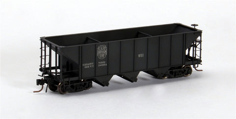 Blackstone Models 340706W HOn3 East Broad Top 3-Bay Hopper #1071 - Weathered