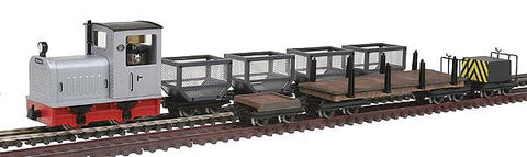 Big City Hobbies 168-5091 HOn30 Gmeinder Diesel Train Set with Cars, Silver (7)