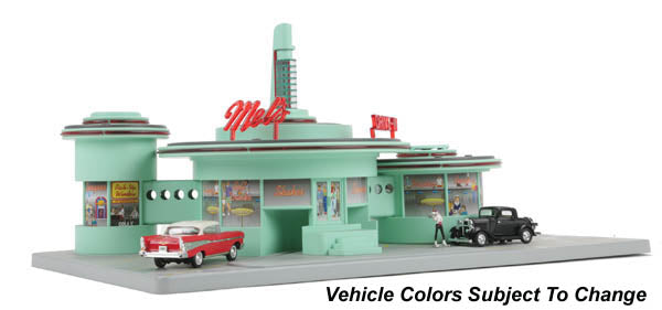 MTH 30-9188 O Mel's Operating Drive-In Diner