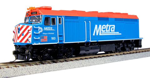 Kato 37-6572 HO Chicago Metra EMD F40PH Diesel Locomotive Standard DC #160