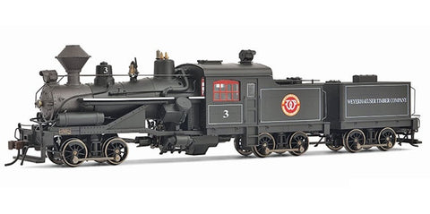 Rivarossi HR2414 HO Weyerhaeuser Timber 3-Truck Heisler Steam Locomotive #3