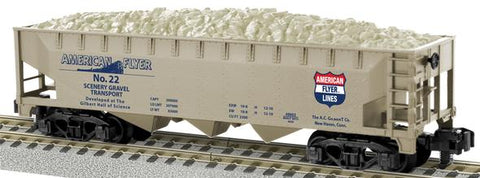 AF 6-48662 S Scale American Flyer Scenery Gravel 3-Bay Hopper #22