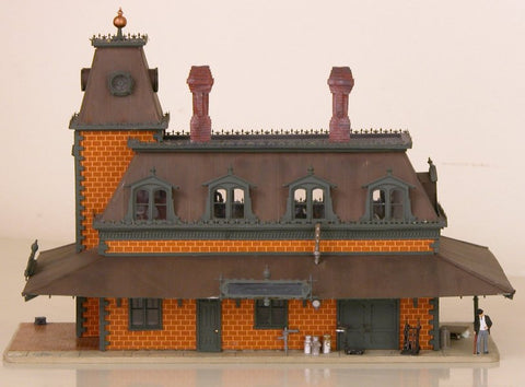 Scale Structures 1215 HO Victorian Station Kit - 9 x 5-1/2 x 6-3/4