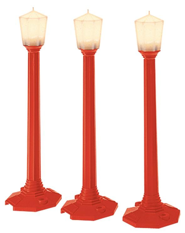 Lionel 6-37151 O Red Christmas Classic Street Lamps