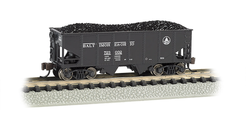 Bachmann 19553 N Baltimore & Ohio 55-Ton 2-Bay Open Hopper w/Load #723032
