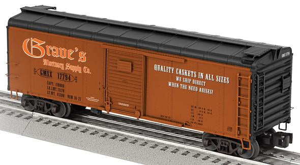 Lionel 6-17768 Graves Mortuary Supply Round-Roof Boxcar