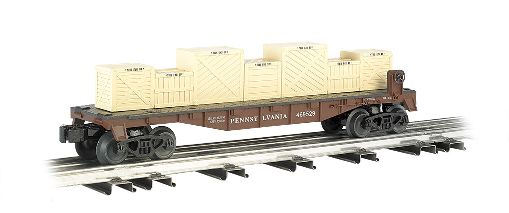 Williams 47552 O Flatcar w/Crates PRR