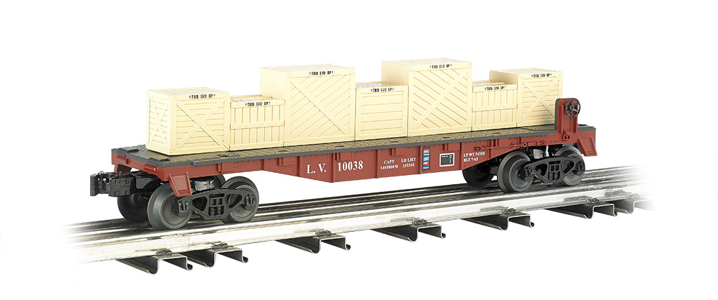 Williams 47553 Lehigh Valley O Flatcar w/Crates