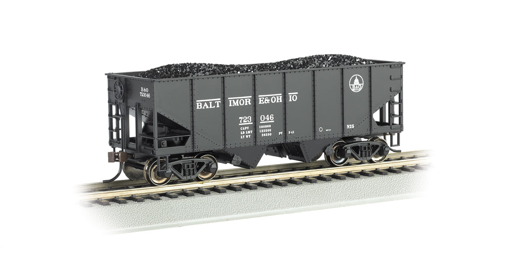 Bachmann 19509 HO Baltimore & Ohio 55-Ton Outside-Braced Hopper w/Load #723046