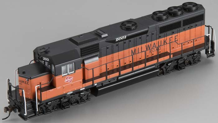 Bachmann 60308 HO Milwaukee Road EMD GP40 Diesel Locomotive DCC #2001