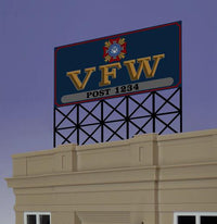 Miller Engineering 881251 O/HO VFW Animated Neon Billboard Large