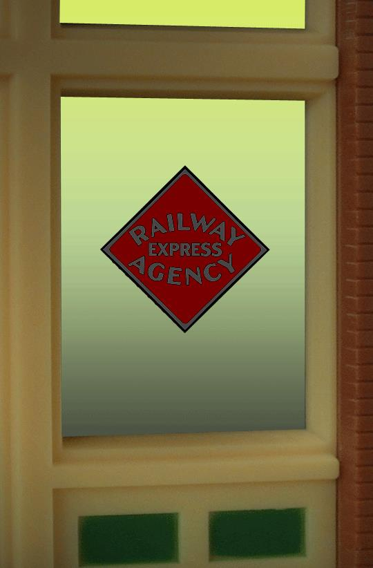 Miller Engineering 8870 HO/O Railway Express Agency Flashing Neon Window Sign