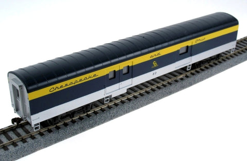 Con-Cor 223-11039 HO Chesapeake & Ohio 72' Sline Baggage Car