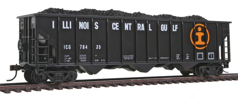 Con-Cor 19314 Greenville 100-Ton 12-Panel 3-Bay Hopper - Ready to Run