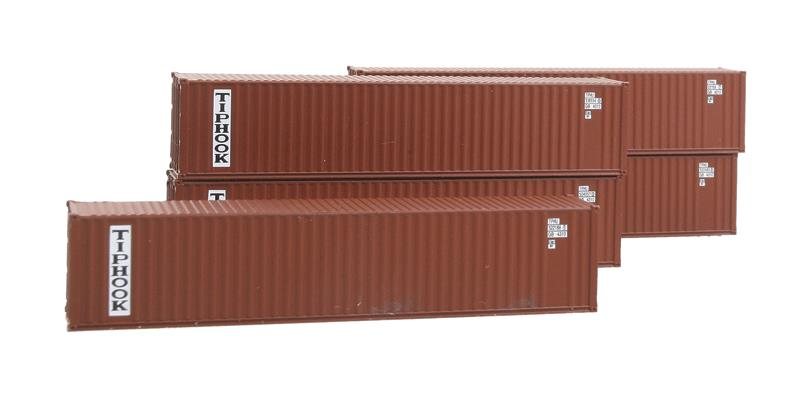 40' Corrugated Dual-Logo Panel Intermodal Container 5-Pack