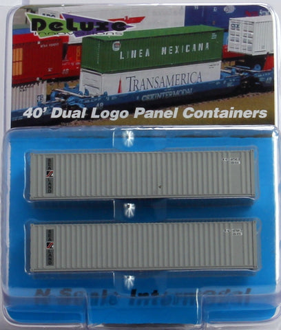 Deluxe Innovations 5121 40' Corrugated Dual-Logo Panel Intermodal Container 2-Pack