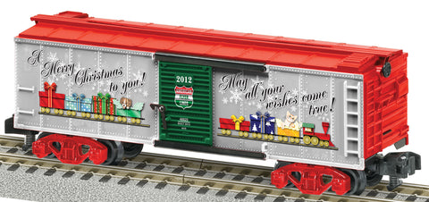 American Flyer 6-48825 S Scale American Flyer 2012 Christmas Boxcar