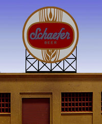 Miller Engineering 881301 O/HO Schaefer Beer Animated Neon Billboard Large