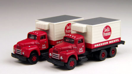 Classic Metal Works 50230 N 1953 IH R-190 Reefer Delivery Truck 2-Pack - Swift