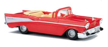 Busch 45007 1:87 HO 1957 Pink Chevy Bel Air Convertible