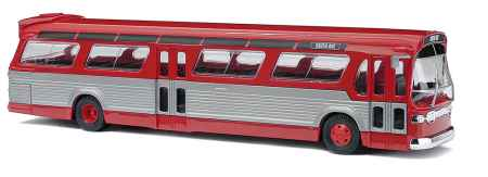 Busch 44501 1:87 HO Fishbowl Bus Red/Silver
