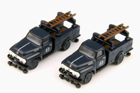 Classic Metal Works 50285 N Mini Metals 1954 Ford F350 Hy-Rail Truck - Santa Fe (2)