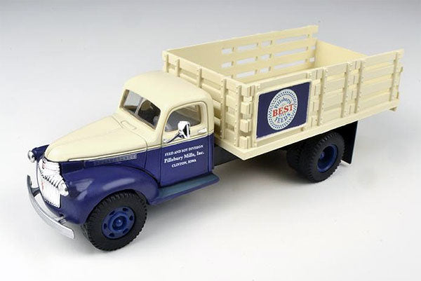 Classic Metal Works 30341 HO 1941-1946 Chevrolet Stakebed Truck - Pillsbury Feeds