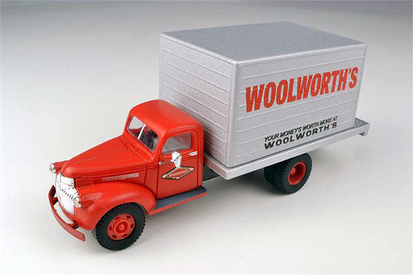 Classic Metal Works 30349 1:87 HO Mini Metals 1941-1946 Chevrolet Box Delivery Truck - Woolworth's