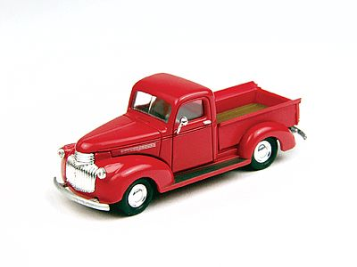 Classic Metal Works 30266 HO Mini Metals '41-46 Swift Red Chevrolet Pickup Truck