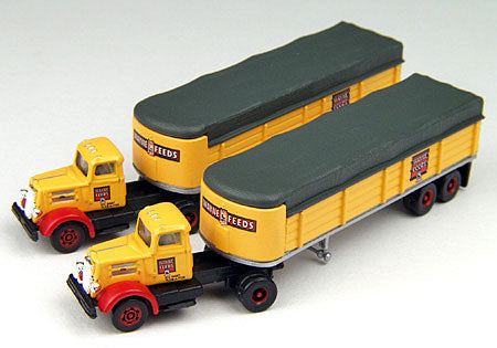 Classic Metal Works 51130 N Covered Wagon Tractor/Trailer Set; White WC22 - Wayne Feeds