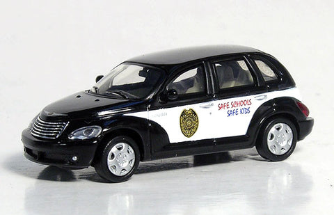 Ricko 38961 HO Chrysler PT Cruiser School Resource Officer Car